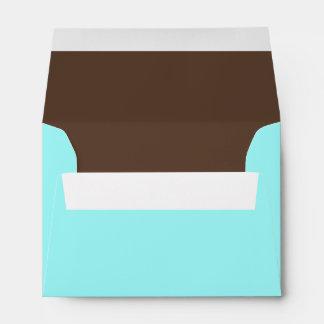 Sobres combinados del azul A6 y del color de Brown
