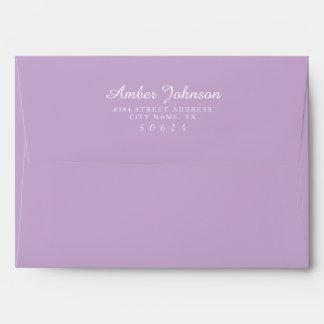 Sobres con seña preimpresa de la púrpura 5 x 7 de