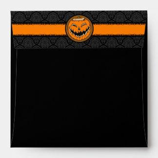 Sobres cuadrados de Hallowen del damasco de la