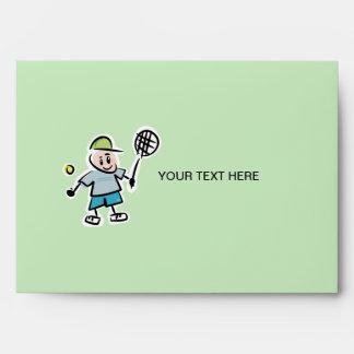Sobres de encargo del tenis - jugador de tenis del