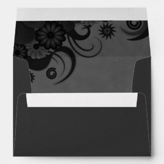 Sobres de encargo elegantes negros y grises