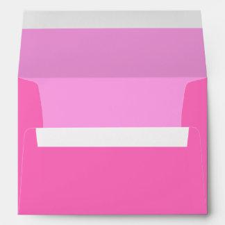 Sobres de encargo rosados de la tarjeta de felicit