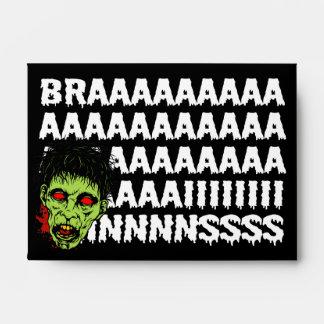 Sobres de Halloween del zombi de los cerebros A6