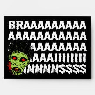 Sobres de Halloween del zombi de los cerebros A7