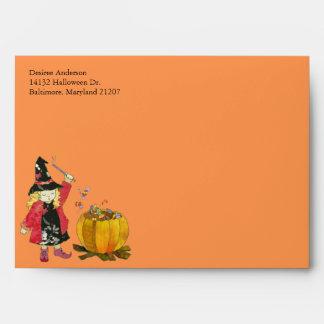 Sobres de la invitación A7 de Halloween de la cald