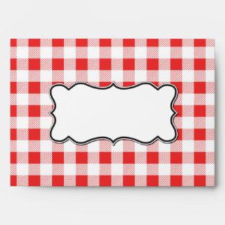 Sobres de la invitación de la comida campestre de