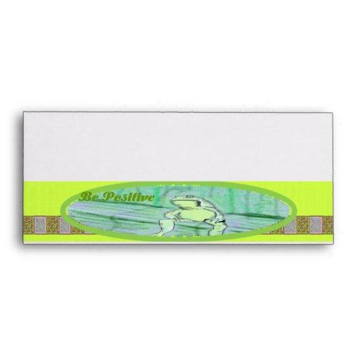Sobres de la rana del ~ de la colección de Chordat