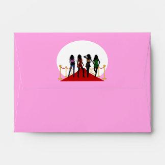 Sobres de la tarjeta de felicitación de la