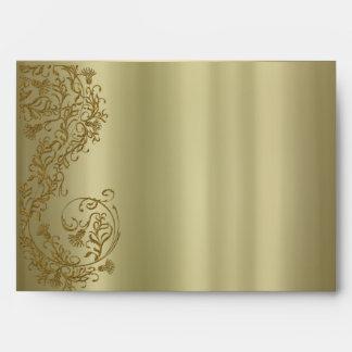 Sobres de la tarjeta de felicitación del damasco