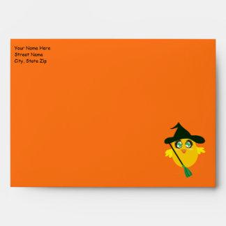 Sobres de la tarjeta de felicitación del polluelo
