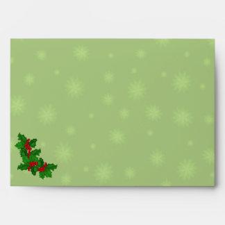 Sobres de las estrellas del verde y del navidad A7
