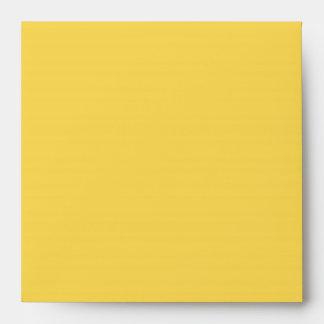 Sobres de lino amarillos puros