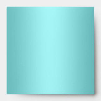Sobres de lino azules del trullo elegante