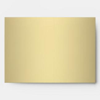 Sobres de lino cuadrados 5x7 del rojo y del oro