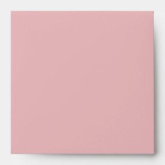 Sobres de lino grises rosados elegantes