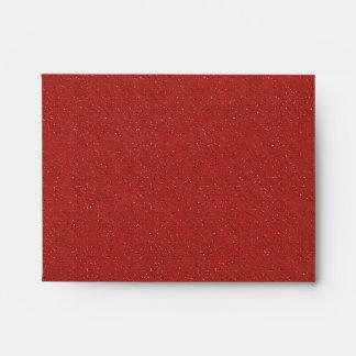 Sobres de lino negros rojos de RSVP del brillo