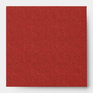 Sobres de lino negros rojos del brillo