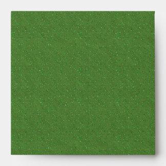 Sobres de lino negros verdes del brillo