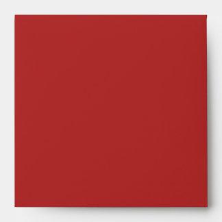 Sobres de lino rojos cuadrados