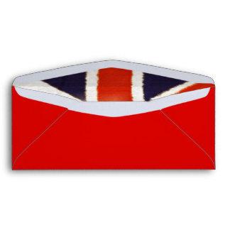 Sobres de lino rojos de Union Jack del vintage de