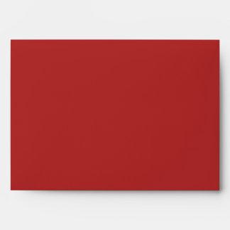 Sobres de lino rojos elegantes