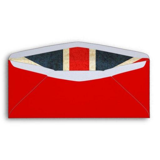 Sobres de lino rojos elegantes de Union Jack del G