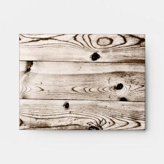 Sobres de madera de RSVP del grano del país rústic