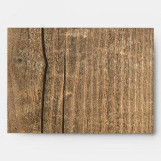 sobres de madera del vintage
