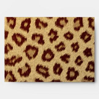 sobres de moda modernos del leopardo