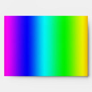 Sobres de neón del arco iris