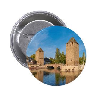 Sobres de Pont de la torre de Alsacia Estrasburgo Pin Redondo De 2 Pulgadas