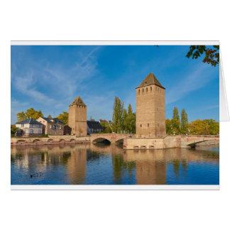 Sobres de Pont de la torre de Alsacia Estrasburgo Tarjeta De Felicitación