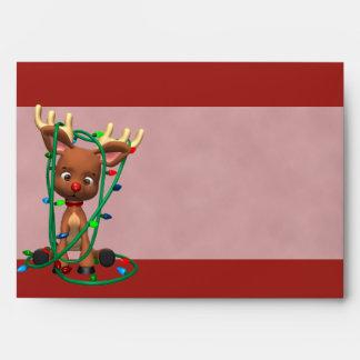 Sobres del día de fiesta del reno del navidad