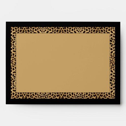 Sobres del estampado leopardo
