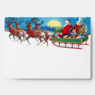 Sobres del navidad de Papá Noel del vintage