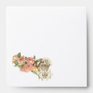 Sobres elegantes del boda de los rosas de n de Flu