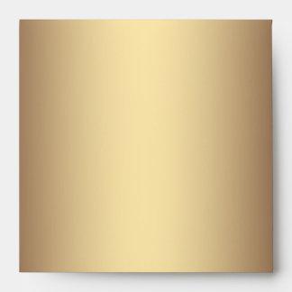 Sobres esmeralda del lino del pavo real del oro ve