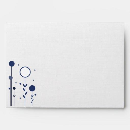 Sobres florales azules del personalizado de los