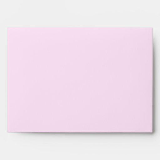 Sobres florales rosados bonitos de la inicial A de