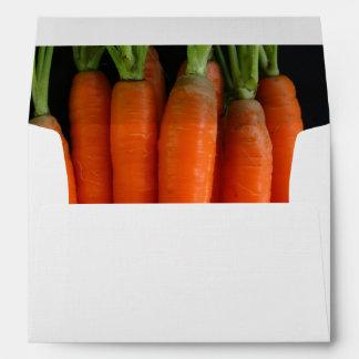 Sobres frescos de las zanahorias