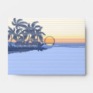 Sobres inmóviles hawaianos de la puesta del sol
