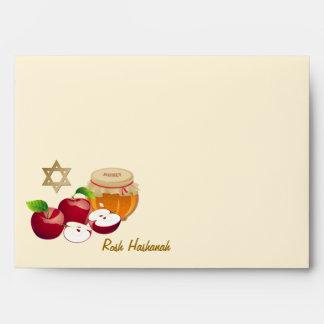 Sobres judíos del Año Nuevo de Rosh Hashanah el |