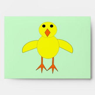 Sobres lindos del personalizado del polluelo de Pa