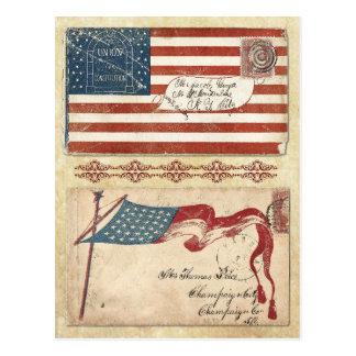 Sobres matasellados de la guerra civil con la postal