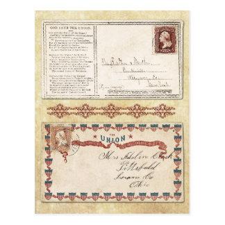 Sobres matasellados de la guerra civil con la tarjeta postal