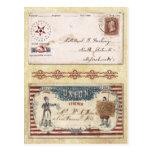 Sobres matasellados de la guerra civil con la unió postal