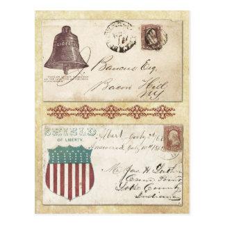 Sobres matasellados de la guerra civil con Liberty Postales