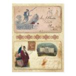Sobres matasellados de la guerra civil que ofrecen tarjetas postales