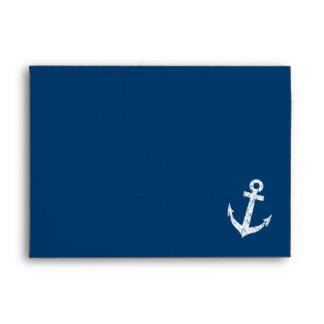 Sobres náuticos del boda de los azules marinos del