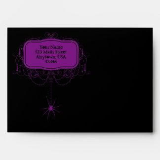 Sobres negros y púrpuras de A7 de la araña de Hall